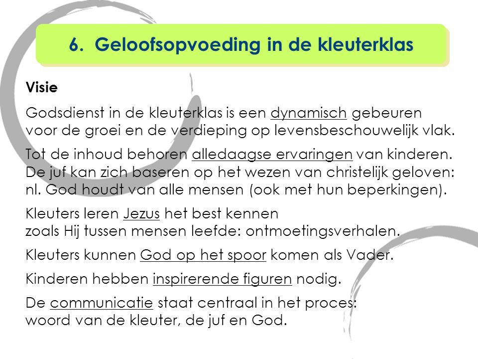 6. Geloofsopvoeding in de kleuterklas