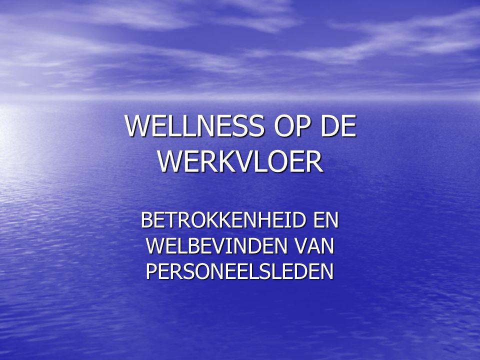 WELLNESS OP DE WERKVLOER