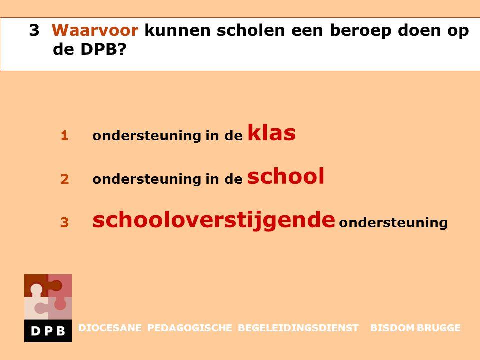 3 Waarvoor kunnen scholen een beroep doen op de DPB