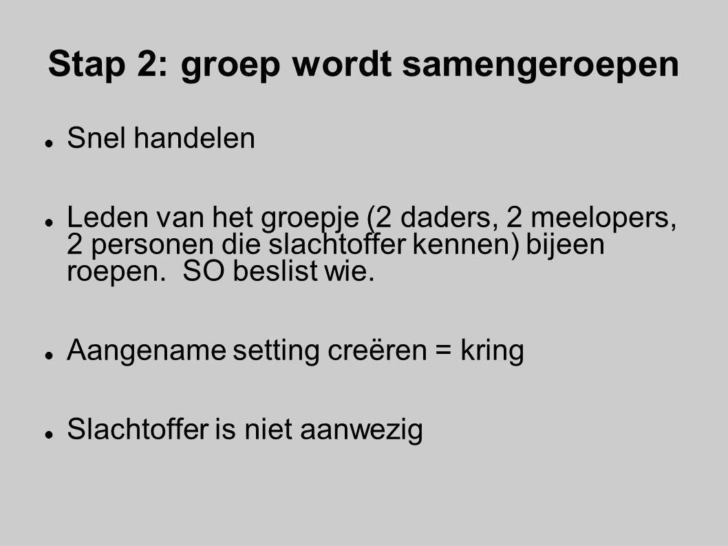 Stap 2: groep wordt samengeroepen