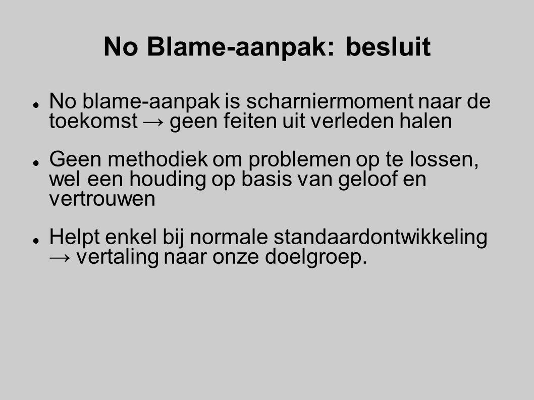No Blame-aanpak: besluit