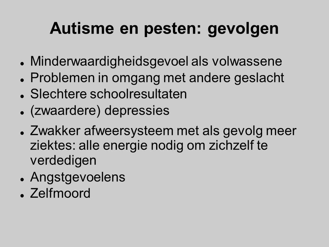 Autisme en pesten: gevolgen