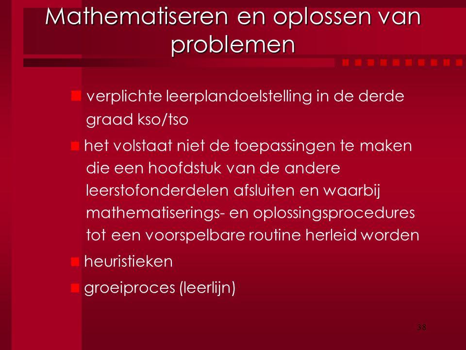 Mathematiseren en oplossen van problemen