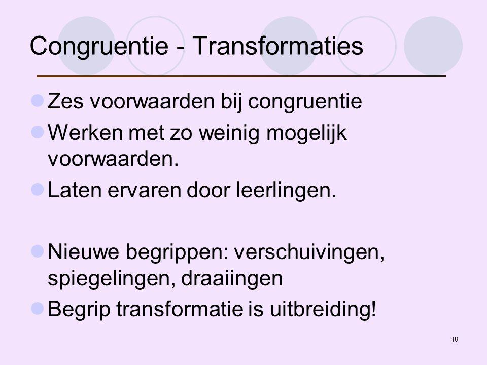 Congruentie - Transformaties