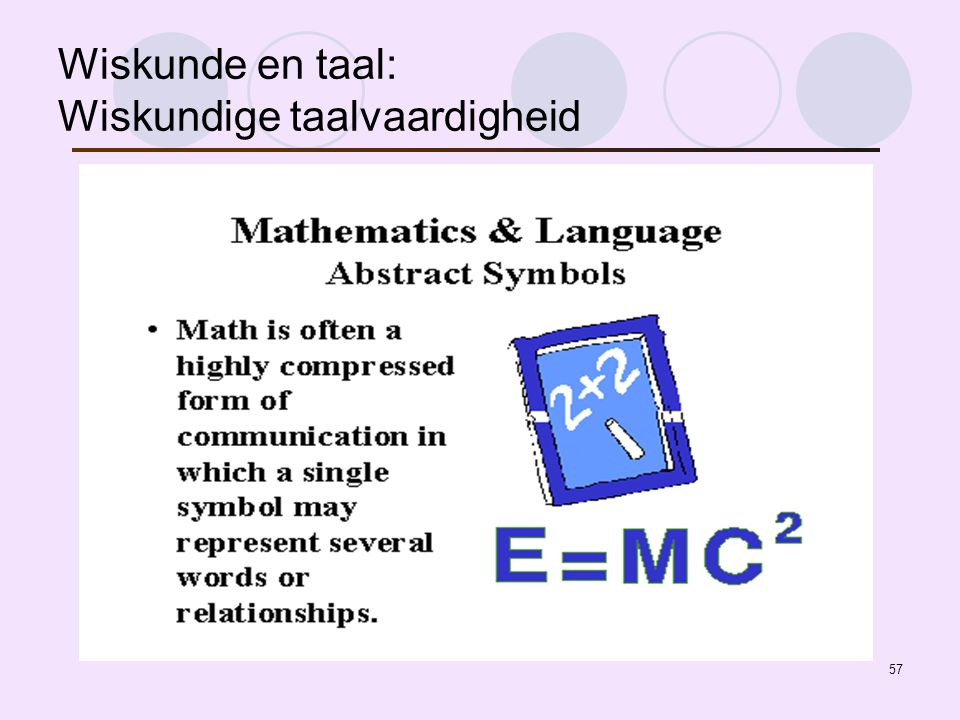 Wiskunde en taal: Wiskundige taalvaardigheid