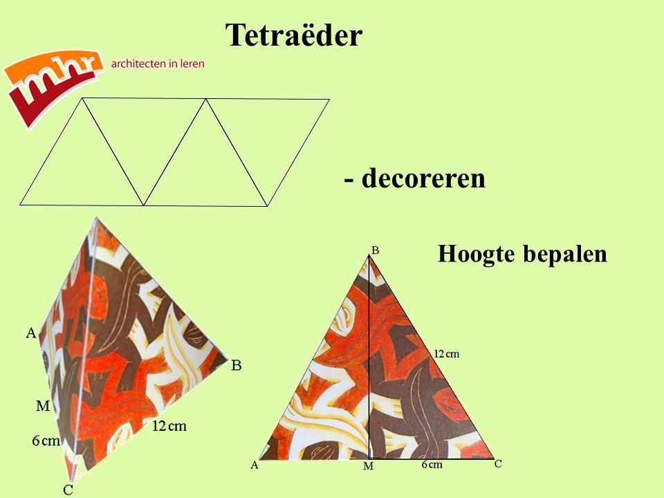 Tetraëder - decoreren Hoogte bepalen