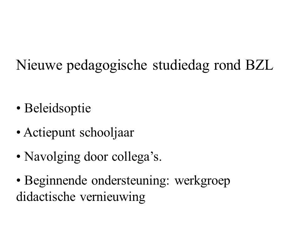 Nieuwe pedagogische studiedag rond BZL
