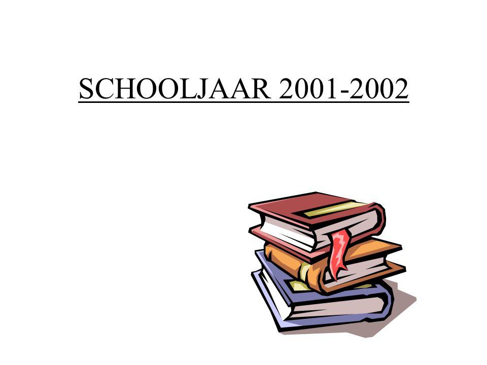 SCHOOLJAAR 2001-2002