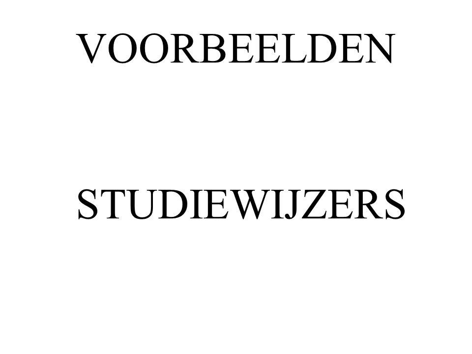 VOORBEELDEN STUDIEWIJZERS