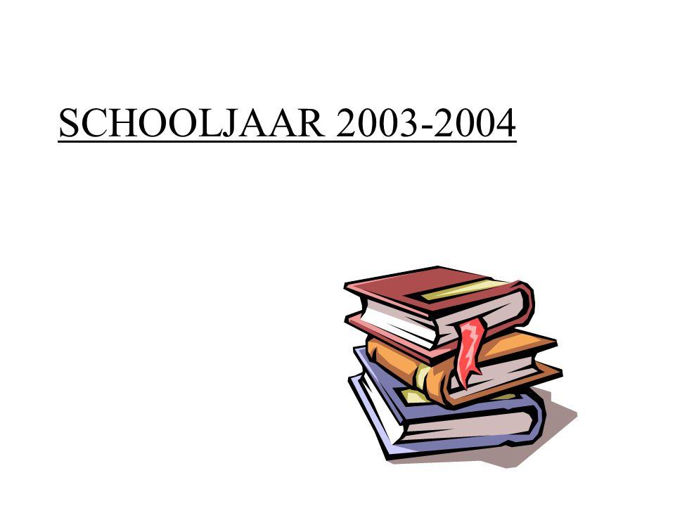 SCHOOLJAAR 2003-2004
