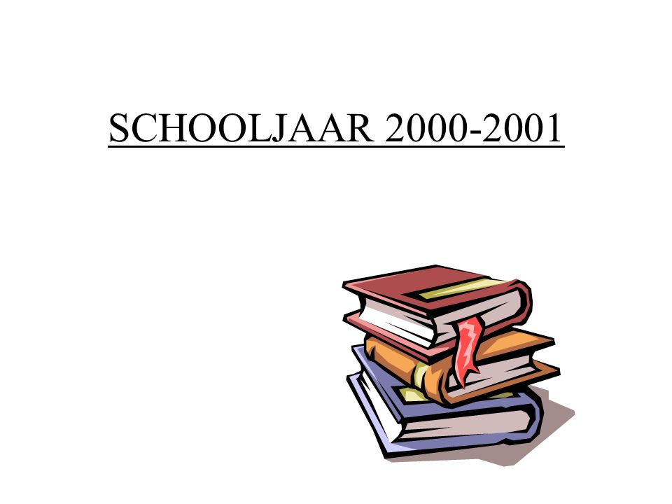 SCHOOLJAAR 2000-2001