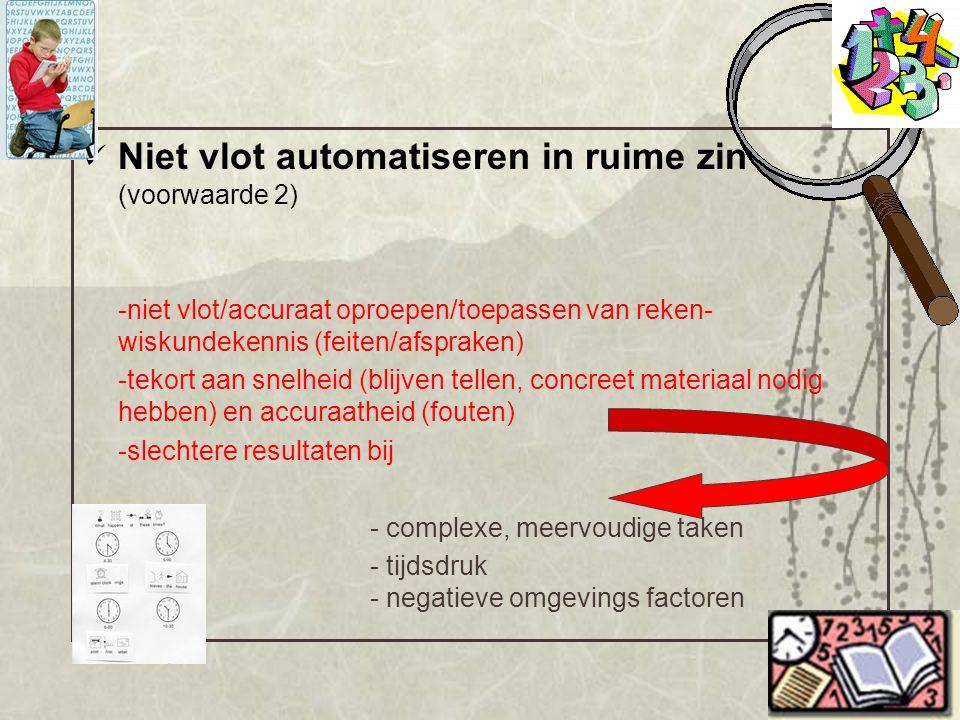 Niet vlot automatiseren in ruime zin (voorwaarde 2)