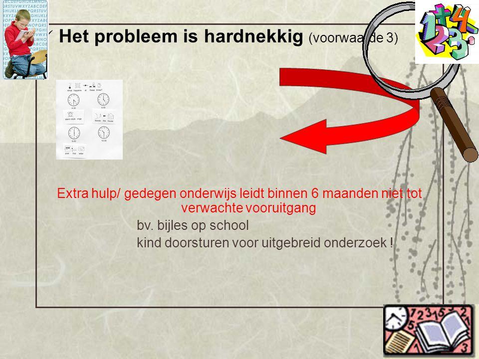 Het probleem is hardnekkig (voorwaarde 3)