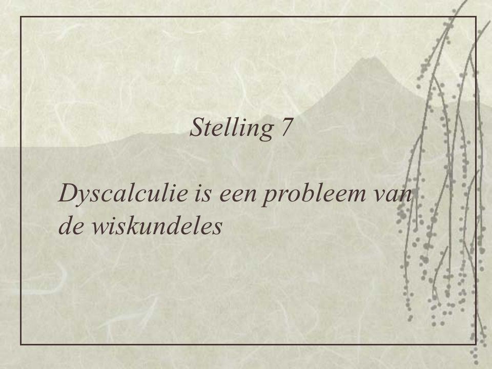 Dyscalculie is een probleem van de wiskundeles