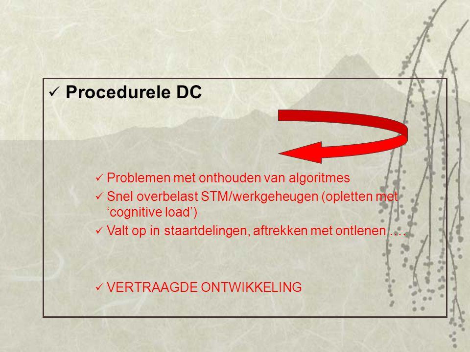 Procedurele DC Problemen met onthouden van algoritmes