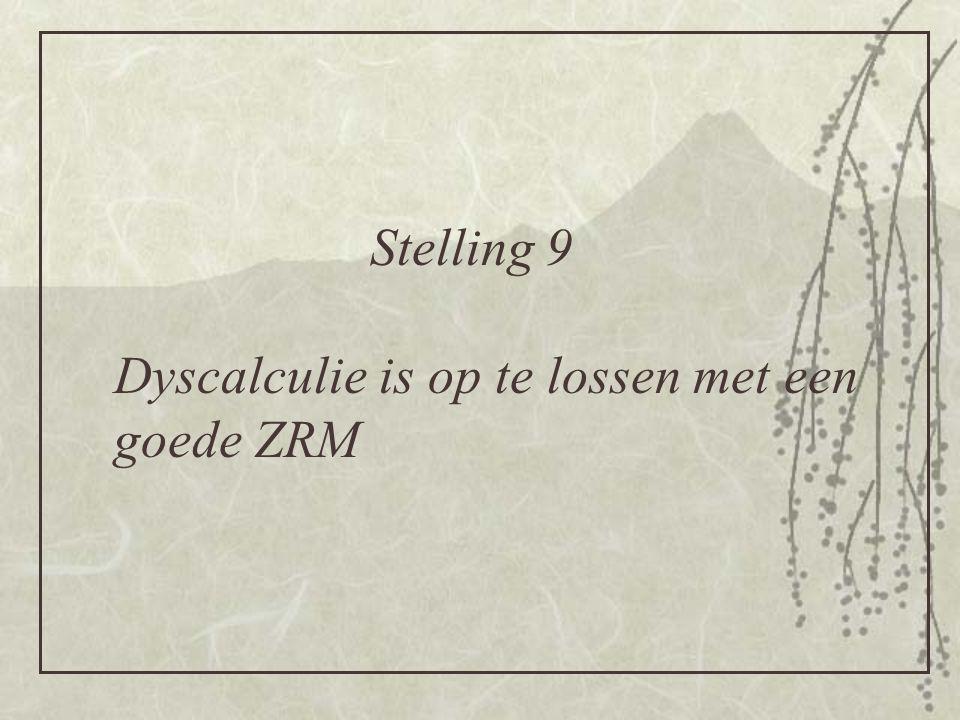 Dyscalculie is op te lossen met een goede ZRM