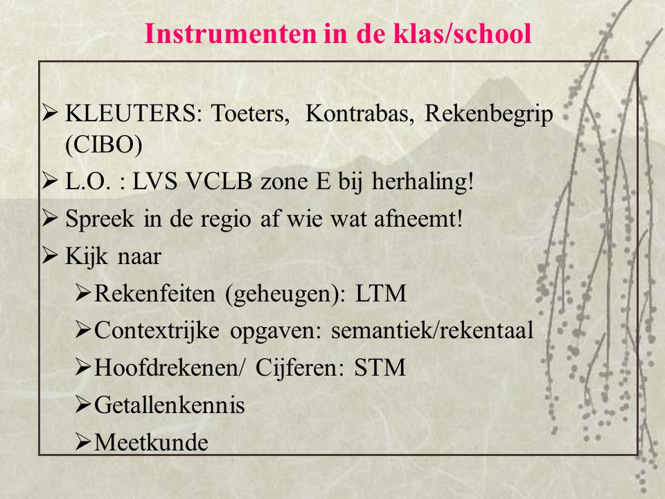 Instrumenten in de klas/school