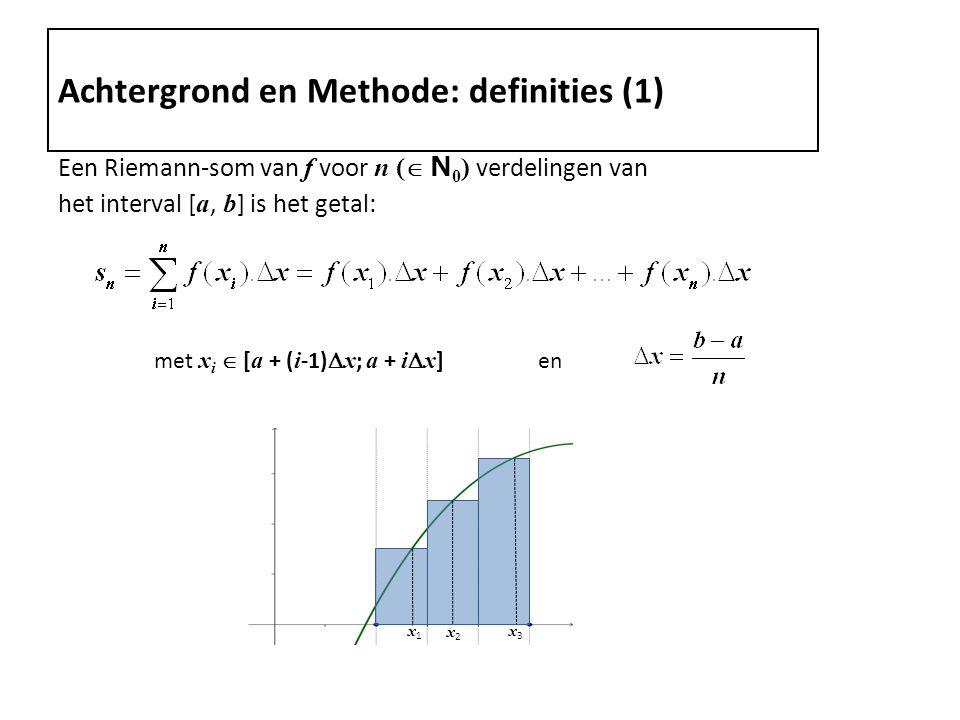 Achtergrond en Methode: definities (1)