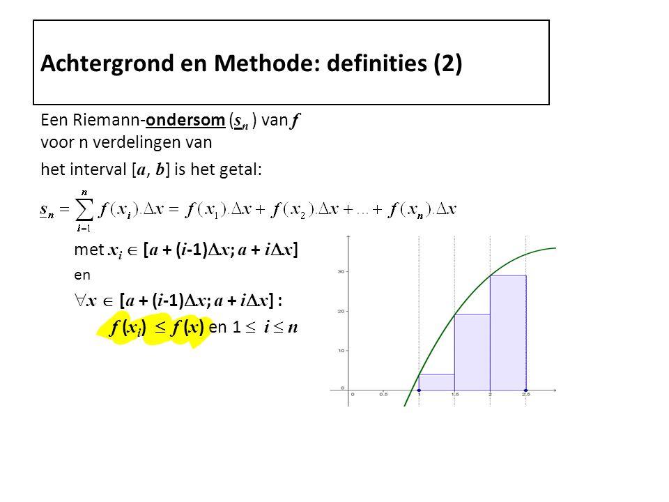 Achtergrond en Methode: definities (2)