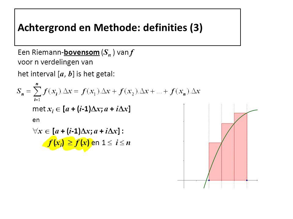 Achtergrond en Methode: definities (3)