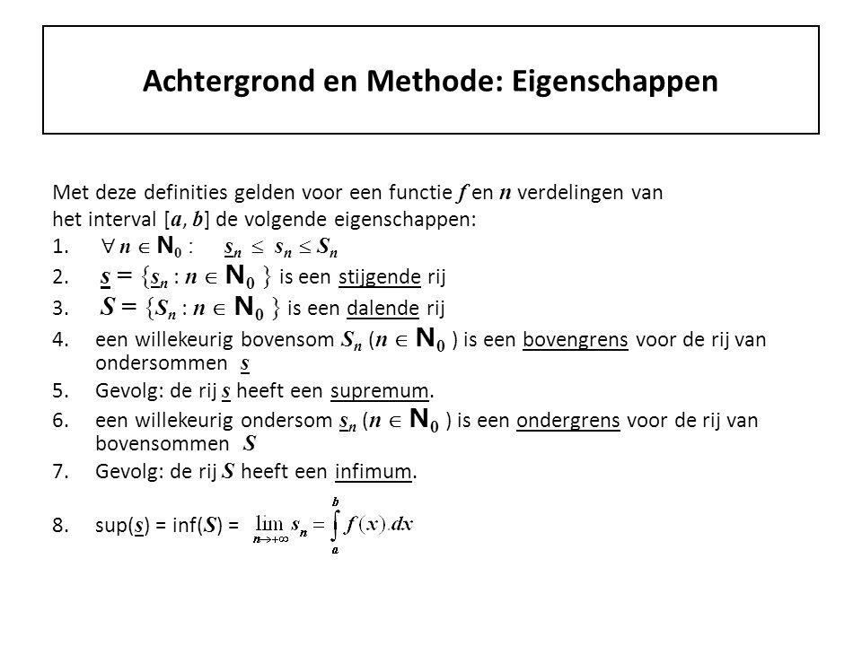 Achtergrond en Methode: Eigenschappen