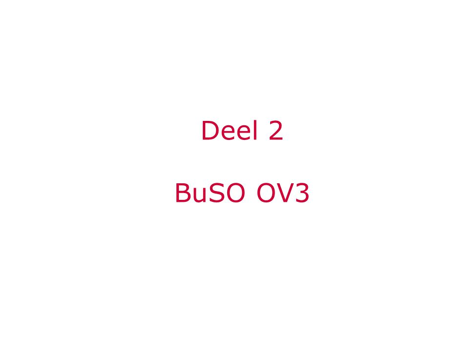 Deel 2 BuSO OV3
