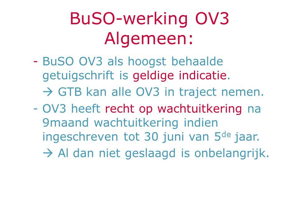BuSO-werking OV3 Algemeen: