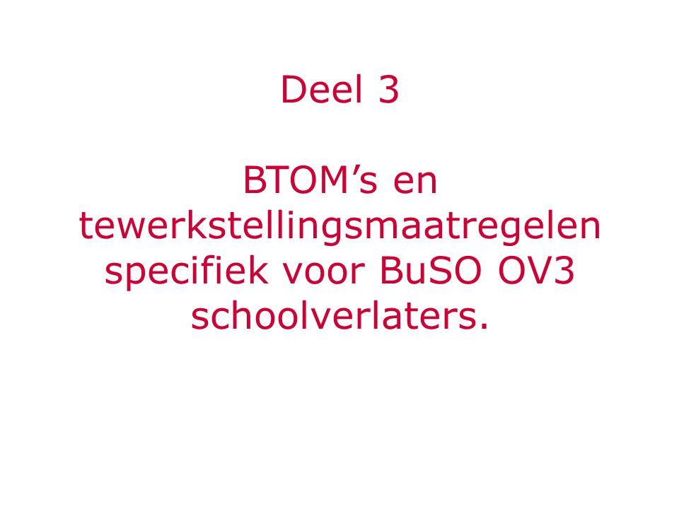 Deel 3 BTOM's en tewerkstellingsmaatregelen specifiek voor BuSO OV3 schoolverlaters.