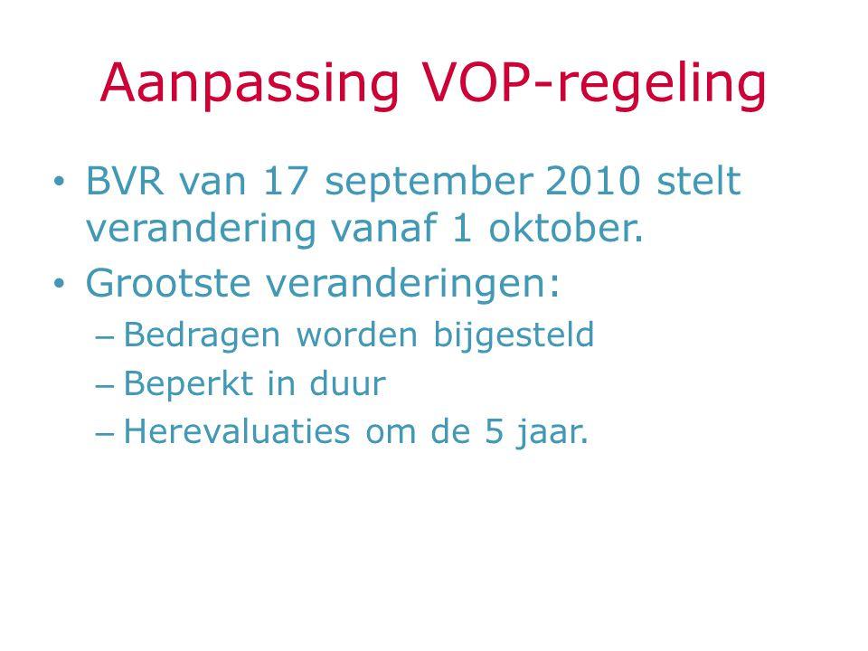 Aanpassing VOP-regeling