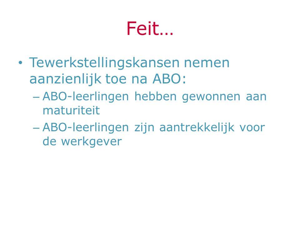 Feit… Tewerkstellingskansen nemen aanzienlijk toe na ABO: