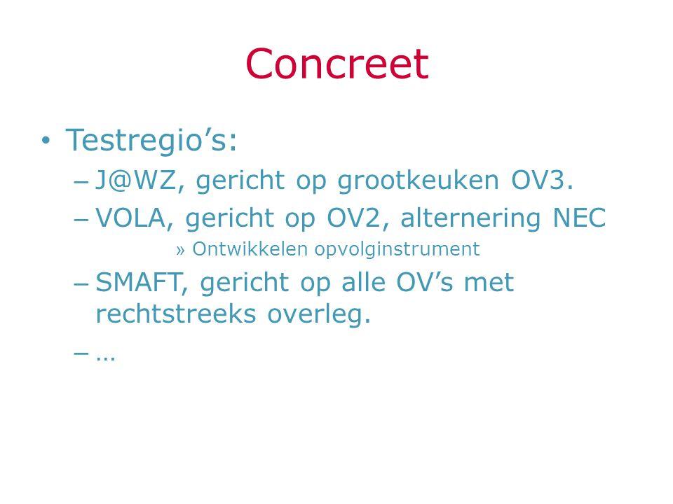 Concreet Testregio's: J@WZ, gericht op grootkeuken OV3.