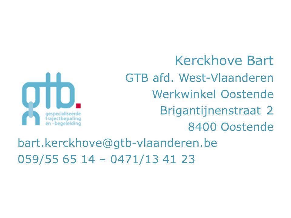 Kerckhove Bart GTB afd. West-Vlaanderen Werkwinkel Oostende