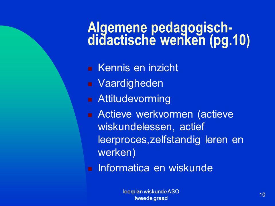 Algemene pedagogisch-didactische wenken (pg.10)
