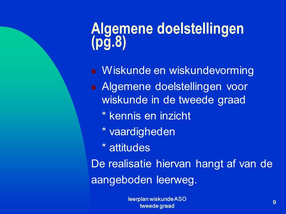 Algemene doelstellingen (pg.8)