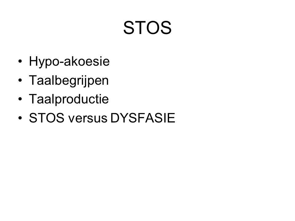 STOS Hypo-akoesie Taalbegrijpen Taalproductie STOS versus DYSFASIE