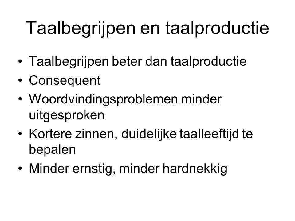Taalbegrijpen en taalproductie