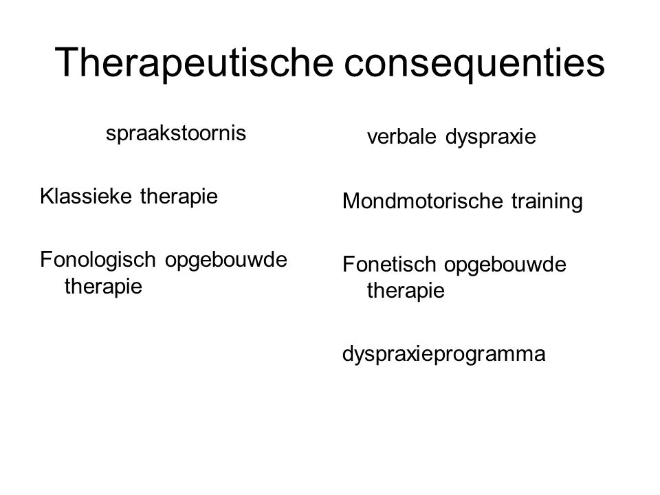 Therapeutische consequenties