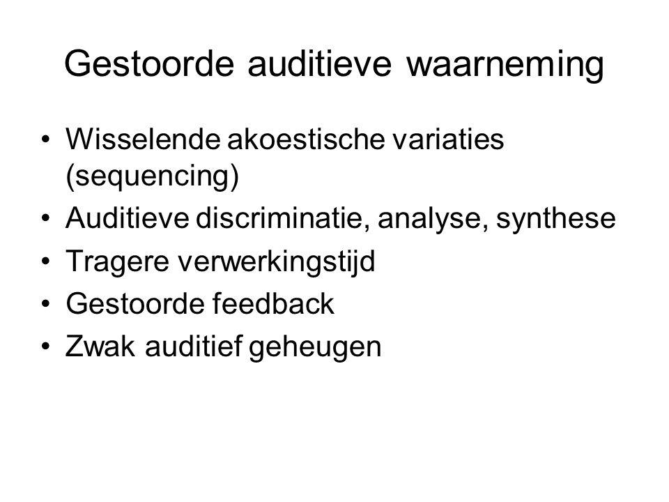 Gestoorde auditieve waarneming