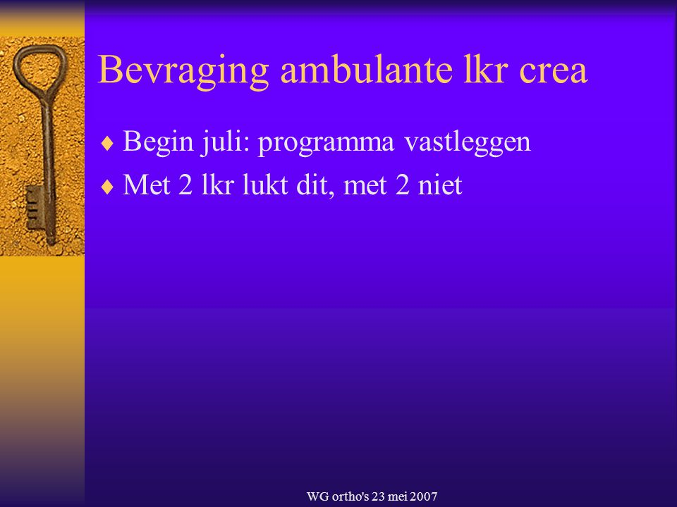 Bevraging ambulante lkr crea