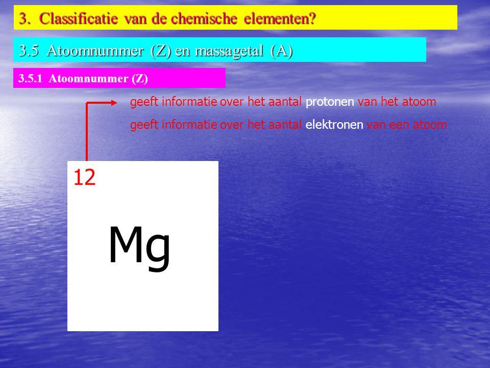 Mg 12 3. Classificatie van de chemische elementen