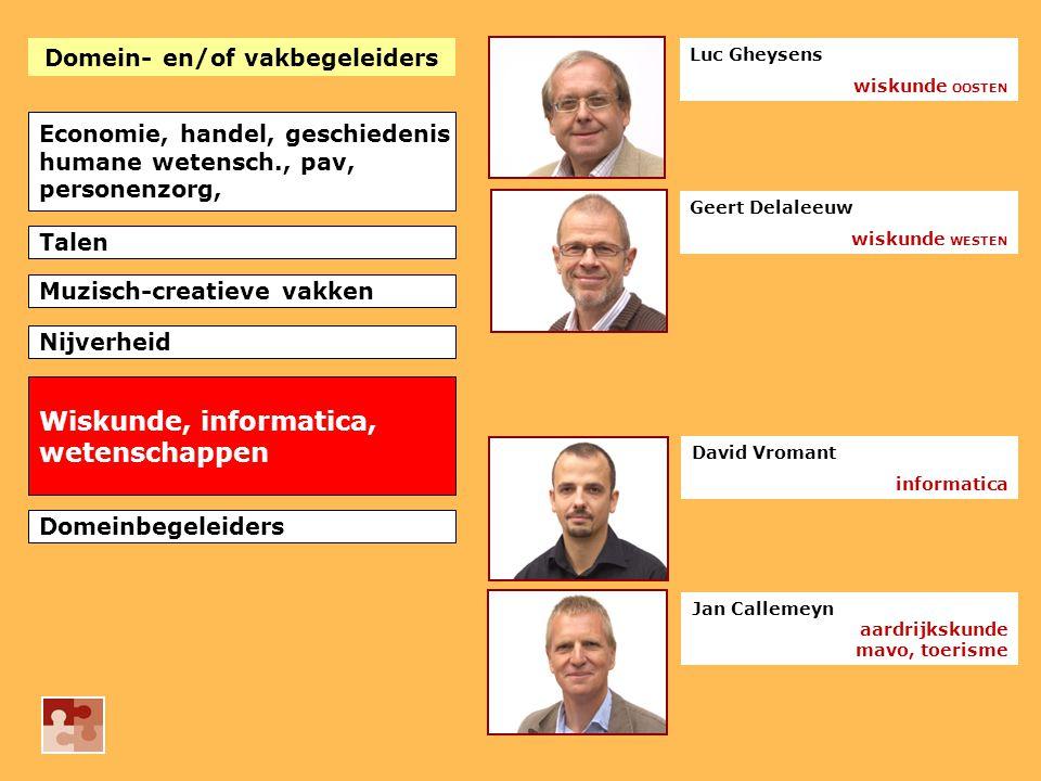 Domein- en/of vakbegeleiders