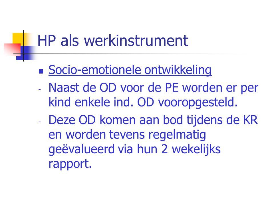 HP als werkinstrument Socio-emotionele ontwikkeling