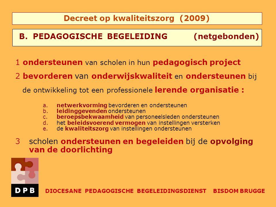 B. PEDAGOGISCHE BEGELEIDING (netgebonden)