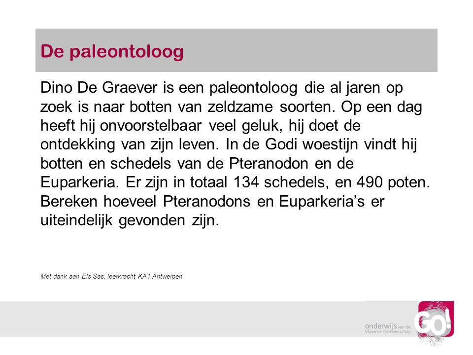 De paleontoloog