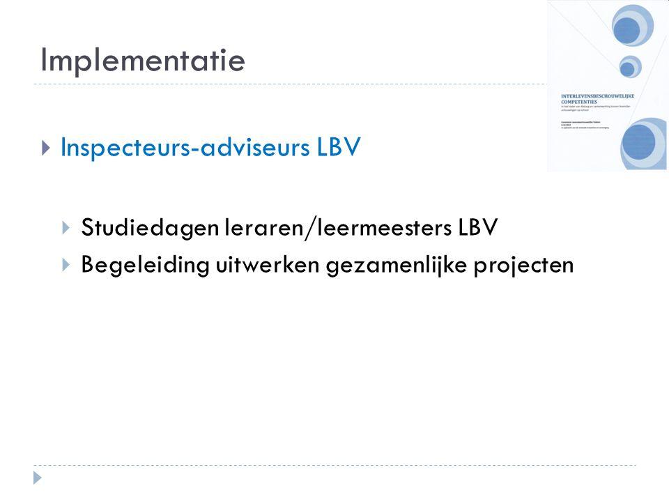 Implementatie Inspecteurs-adviseurs LBV