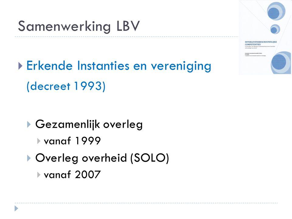 Samenwerking LBV Erkende Instanties en vereniging (decreet 1993)
