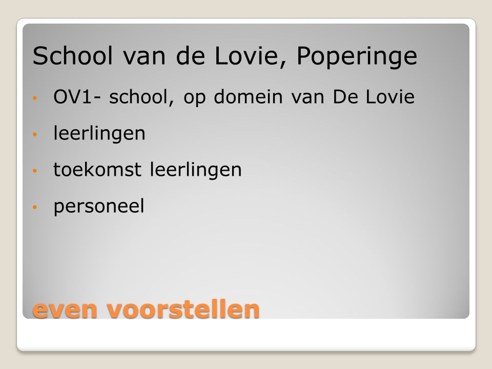 School van de Lovie, Poperinge