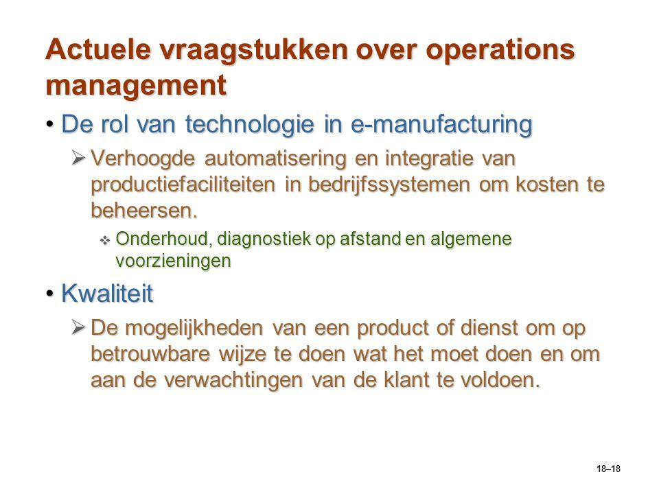 Actuele vraagstukken over operations management