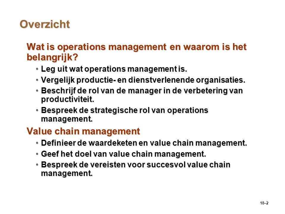 Overzicht Wat is operations management en waarom is het belangrijk