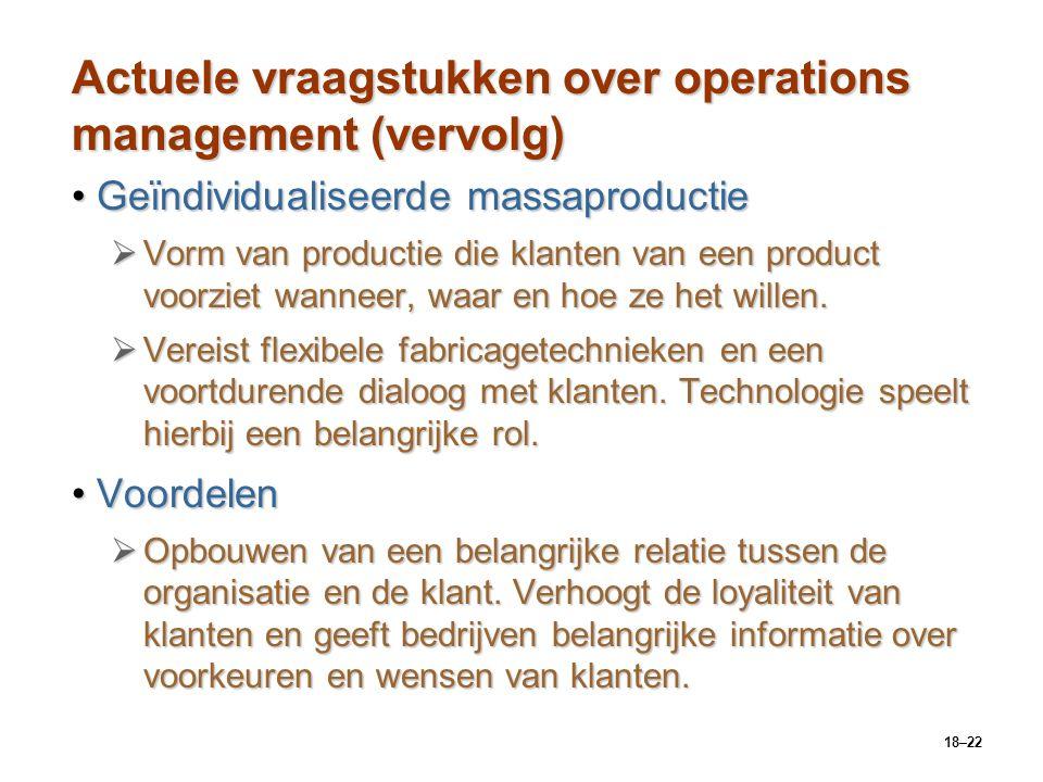 Actuele vraagstukken over operations management (vervolg)
